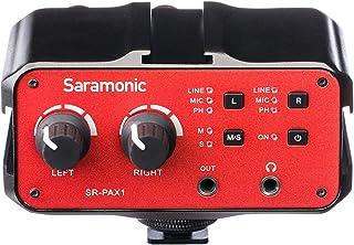 Saramonic 2-Ch Audio Mixer with 3.5mm, XLR & 6.35mm Combo Inputs, PH Power, Headphone Monitor Jack, Integarted Shoe Mounts...
