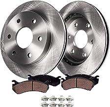 CRK13565 FRONT 295mm Black Drill//Slotted 6 Lug 2 Brake Rotors fit Escalade Blazer K1500 K2500 Jimmy Suburban Tahoe