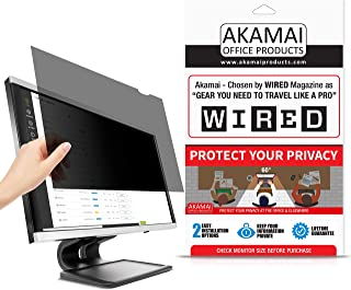 "25"" Akamai Computer Privacy Screen (16:9) - Black Security Shield - Desktop Monitor Protector - UV & Blue Light Filter (25.0 inch Diagonally Measured, Black)"