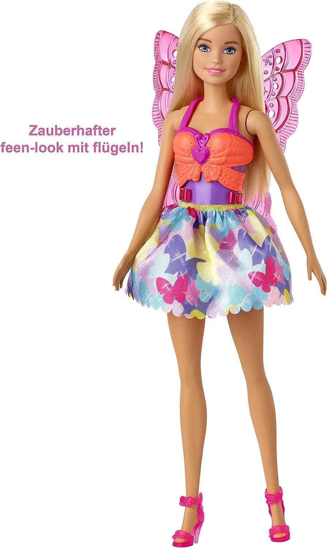 Barbie GJK40 - Dreamtopia 3-in-1 Fantasie Spielset, Puppe (blond) mit 3 Outfits und Zubehör: Fee, Meerjungfrau und Prinzessin, Spielzeug ab 3 Jahren Blond