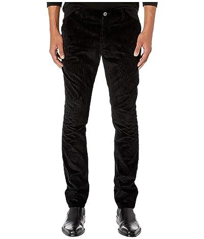 John Varvatos Collection Motor City Fit Jeans with Zip Fly in Black J293V3 (Black) Men