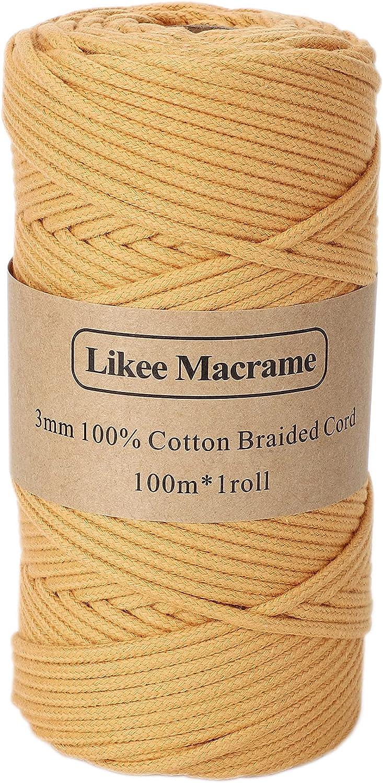 Braided Cotton Cord 3mm×109 Kansas City Mall Natural Macrame Yards Indianapolis Mall