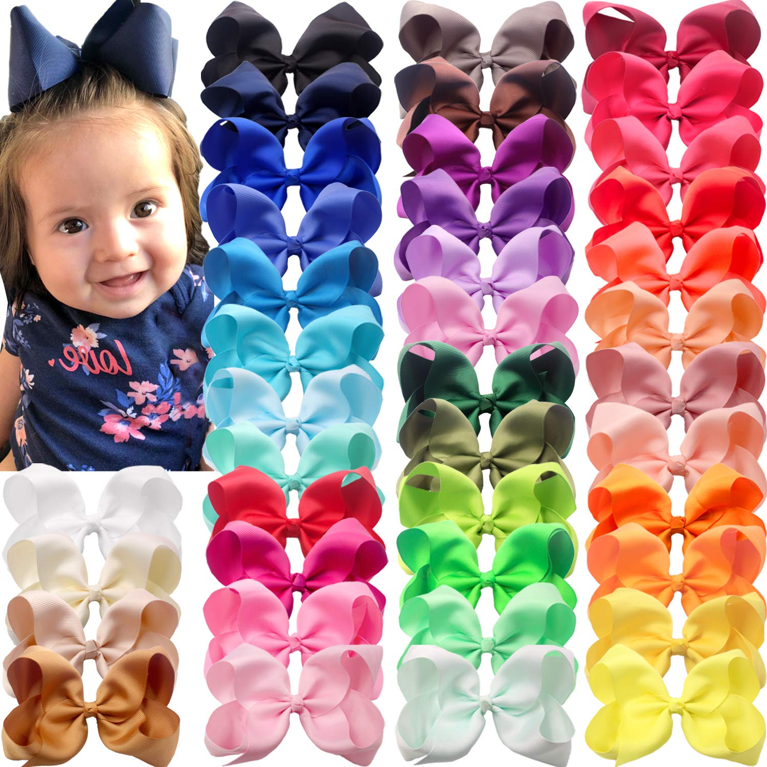 40 Colors Baby Girls 6