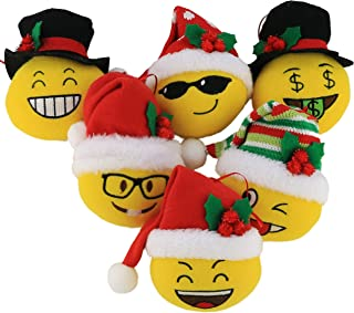 Bstaofy Wewill 6 Pack Plush Hanging Christmas Tree Ornament Sets Santa and Snowman, 5.5inch