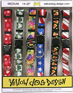 Seasonal Dog Collars Calendar Pack - Valentines Day, St Pattys Day, Easter, 4th of July, Halloween, and Christmas