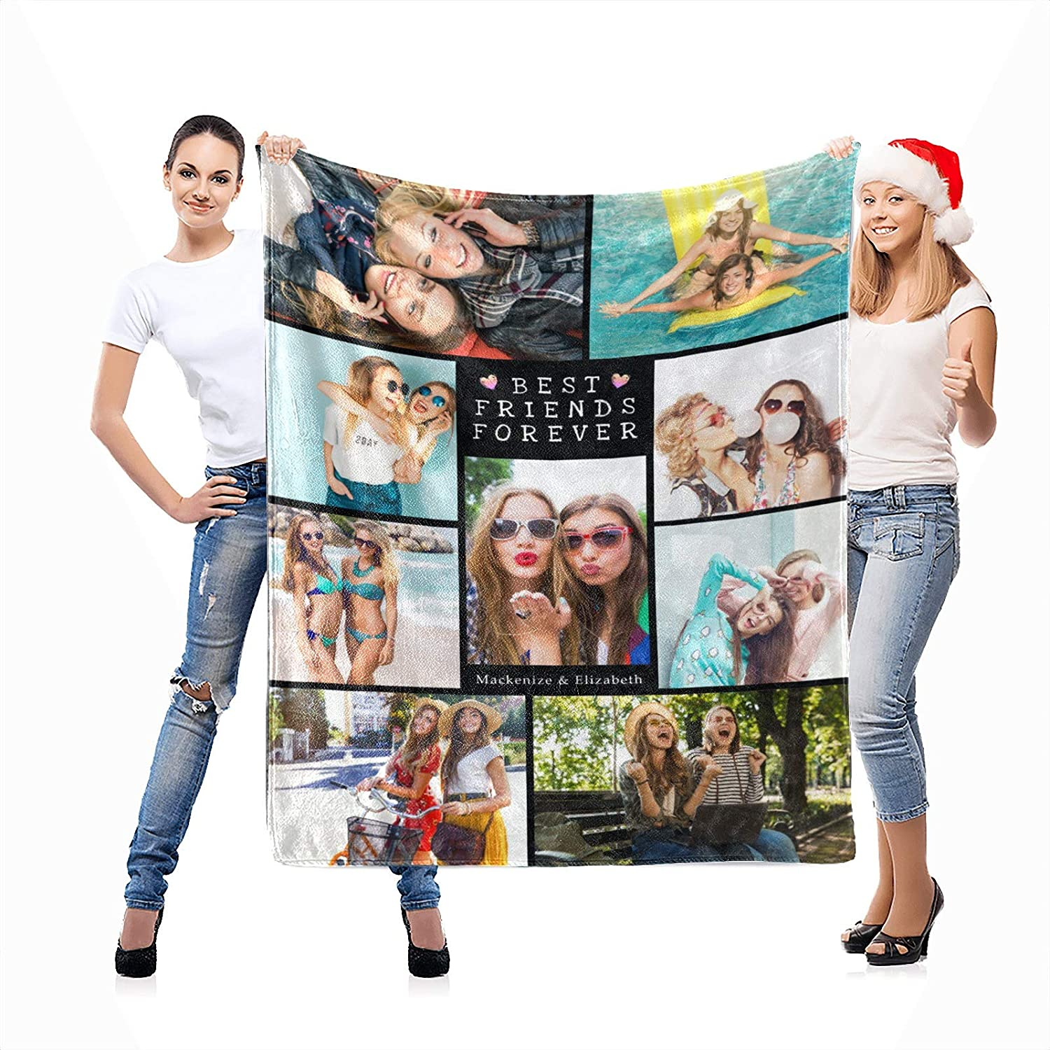 Best Friends Photo Blanket We OFFer at cheap prices Sale item Using wi Custom Own My Photos