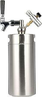 YaeBrew TEK-KI-0008 3.6L-Z Homebrew Keg System Kit for Home Brew Beer Dispensor, Mini CO2 Regulator and a Cool Bank 128 Ounce, 128 OZ, Silver