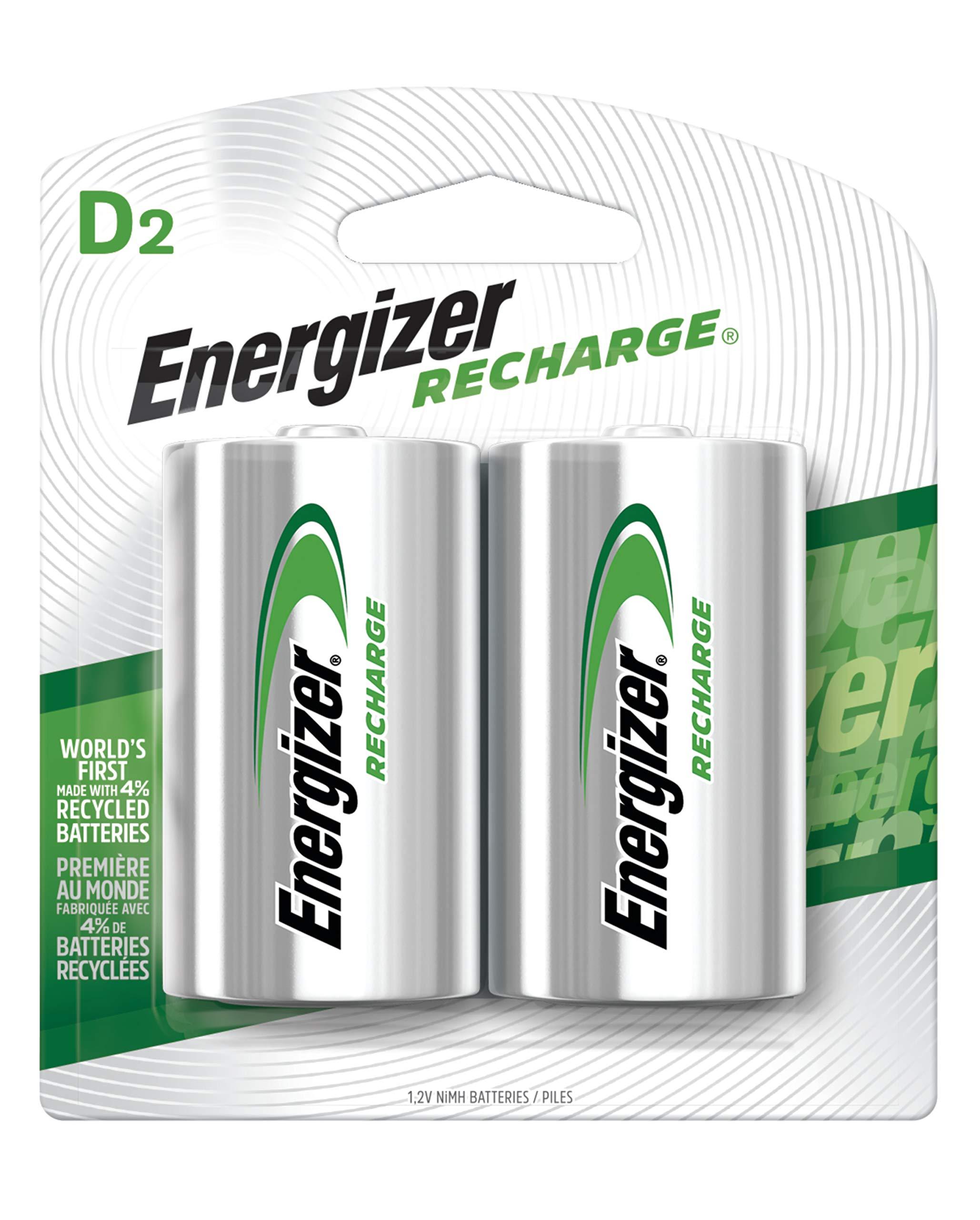 Energizer Rechargeable Batteries NiMH 2500 count