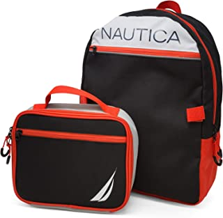 Nautica unisex-child Backpack With Lunch Box Combo Set Backpack