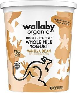 Wallaby Organic, Whole Milk Greek Yogurt, Blended Vanilla Bean, 32 oz