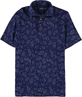 Mens Soft Touch Paisley Rugby Polo Shirt