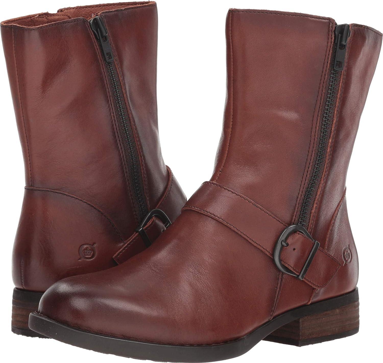 Born Womens ROA Leather Almond Toe Ankle Fashion Boots
