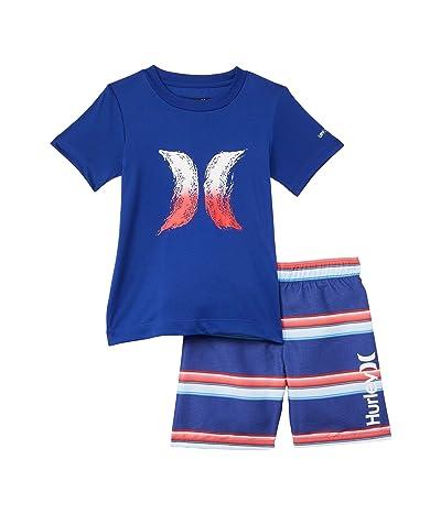 Hurley Kids UPF 50+ T-Shirt and Swim Trunks Set (Little Kids) (Deep Royal Blue) Boy