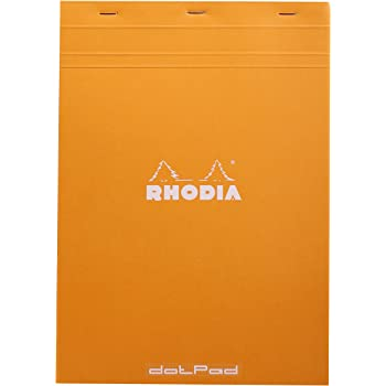 Rhodia Head Stapled Pad, No18 210x297mm, Dot - Orange