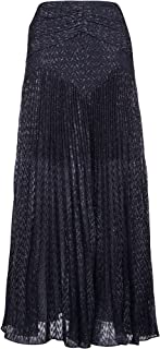 SELF-PORTRAIT Luxury Fashion Womens SP23123NAVY Blue Skirt | Fall Winter 19