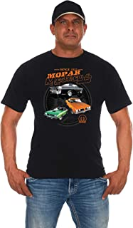 JH Design Men's Mopar Madness T-Shirt Short Sleeve Black Shirt