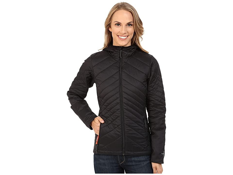 Icebreaker Stratus Long Sleeve Zip Hood (Black/Monsoon/Black) Women