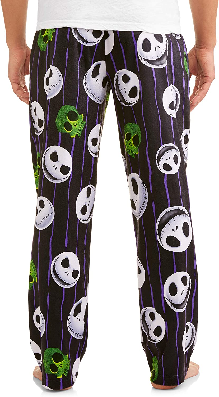 Disney Nightmare Before Christmas Men's Jack Skellington Skulls Graphic Lounge Pants