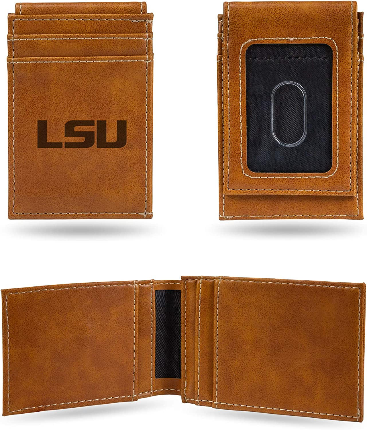 Rico Industries Laser Engraved Free shipping Max 54% OFF Pocket Front Wallet