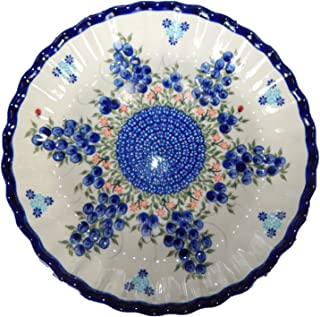Lidia's Polish Pottery 251212B Plate Blueberry Polish Pottery Pie Baker, 10