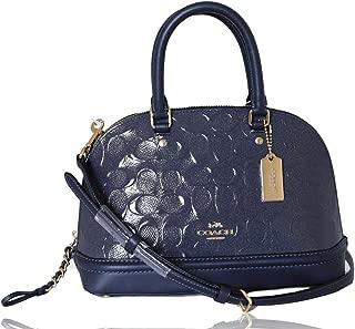 Coach F27597 IMMID Mini Sierra Satchel In Signature Debossed Patent Leather Bag -IM/Midnight