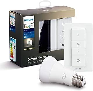 Philips Hue Draadloze Dimmerset - E27 - Duurzame LED Verlichting - Warmwit Licht - Incl. dimmer switch - Dimbaar - Verbind...