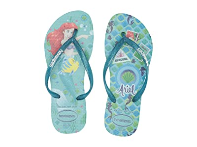 Havaianas Kids Slim Princess Flip Flops (Toddler/Little Kid/Big Kid) (Ice Blue) Girls Shoes