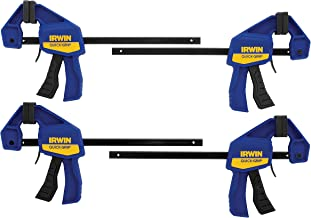 Irwin Quick-Grip Clamps, One-Handed, Mini Bar, 6-Inch, 4-Pack
