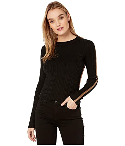 Bishop + Young Brie Ribbed Sweater (Black) Women