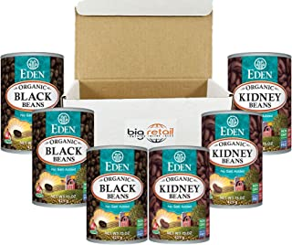 Eden Organic Black Soy Beans | Dark Red Kidney Canned Beans Source Of Plant Based Protein and Fiber, Gluten Free Low fat- ...
