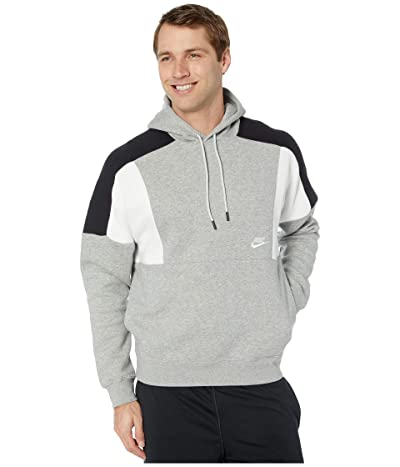 Nike NSW Hoodie Pullover Color Block (Grey Heather/White/Black/White) Men