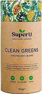 Super U Clean Greens – Superfoods Pulver aus grünem Bio-Gemüse, Smoothie Mix für..