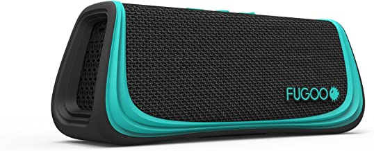 FUGOO Sport - Portable Rugged Bluetooth Wireless Speaker Waterproof Longest 40 Hrs Battery Life (Black/Teal)