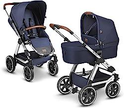 ABC Design 2 in 1 Kinderwagen Viper 4 Diamond Edition – Kombikinderwagen für Neugeborene & Babys – Inkl. Sportsitz Buggy & Tragewanne – Radfederung & Luftreifen – Farbe: navy