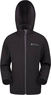 Mountain Warehouse Exodus Kids Softshell Jacket -Wind Resistant Shell