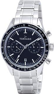TORNADO Men's Chronograph Black Dial Watch - T9108-SBSB