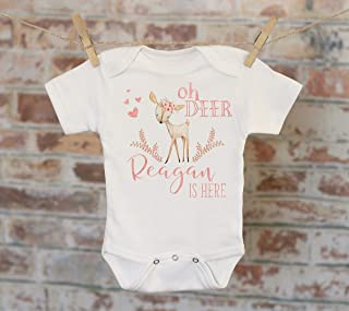 Oh Deer Custom Baby Onesie, Personalized Baby Outfit, Custom Baby Clothes, Baby Shower Gift, Cute Baby Outfit, Funny Onesie