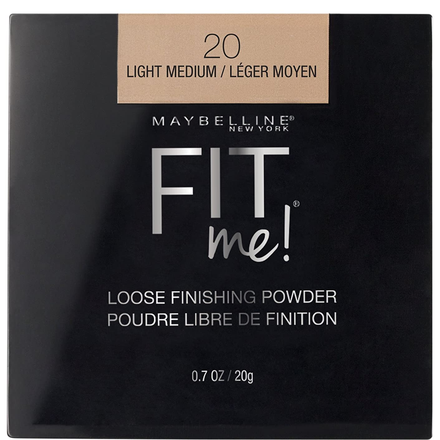 吸い込むところで犯人MAYBELLINE Fit Me! Loose Finishing Powder - Light Medium (並行輸入品)
