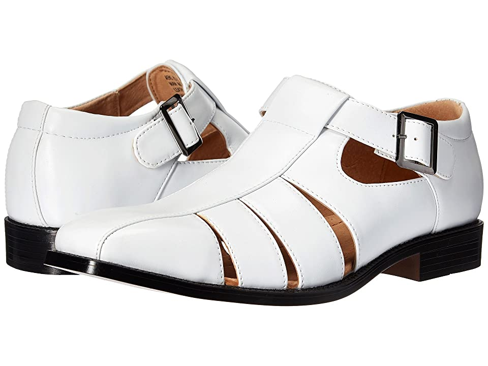 Mens Vintage Style Shoes & Boots| Retro Classic Shoes Stacy Adams Calisto White Mens Shoes $60.00 AT vintagedancer.com