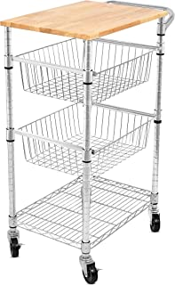 3 tier wire kitchen cart