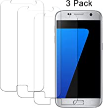 S7 Screen Protector, Wisdompro 0.33 mm Tempered Glass Screen Protectors for Samsung Galaxy S7(3 Pack)