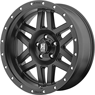 XD Series by KMC Wheels XD128 Machete Satin Black Wheel (17x8.5