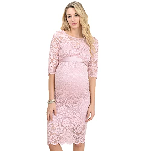7b96b612714 Hello MIZ Women s Baby Shower Floral Lace Maternity Dress