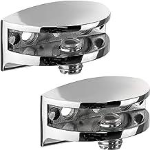 Gedotec Glazen plankdragers van glas en hout - Dome | plankdrager wandplanken voor tafeldikte 4-7 mm | wandhouder voor gla...