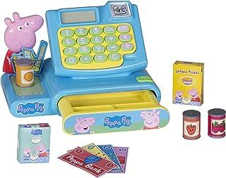 Peppa Pig Speelgoed Kassa Set | Doe alsof Winkelen Spelen Geld Machine & Kruideniersvoedsel Speelset voor jongens en meisjes