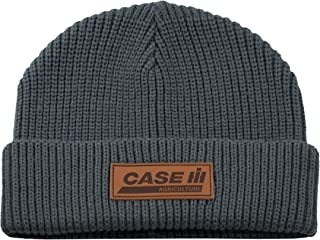 Gray with Leather Patch Watch Cap - Officially Licensed