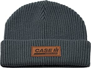 Case IH Gray with Leather Patch Watch Cap - Officially Licensed