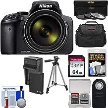 Nikon Coolpix P900 Wi-Fi 83x Zoom Digital Camera + 64GB Card + Battery & Charger + 3 Filters + Case + Tripod Kit (Renewed)