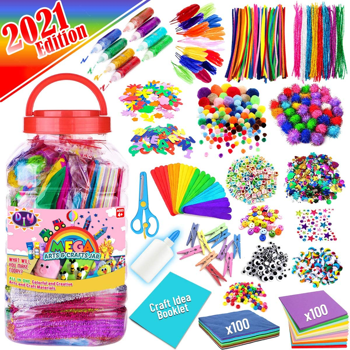 FunzBo Arts and Crafts Supplies for Ranking TOP19 Art Su Assorted - Kids Craft Time sale