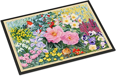 """Caroline's Treasures SASE0956MAT Winter Floral by Anne Searle Indoor or Outdoor Mat, 18"""" x 27"""", Multicolor"""